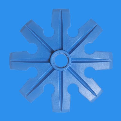 Blå pudertruga, Ø100 mm, från Tehnomat.