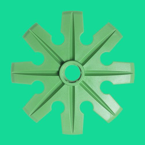 Grön pudertruga, Ø100 mm, från Tehnomat.