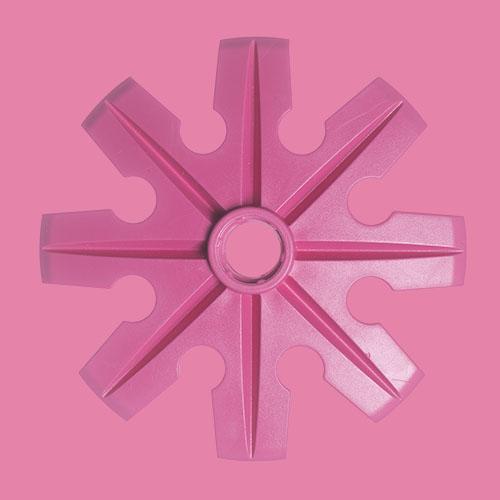Rosa pudertruga, Ø100 mm, från Tehnomat.