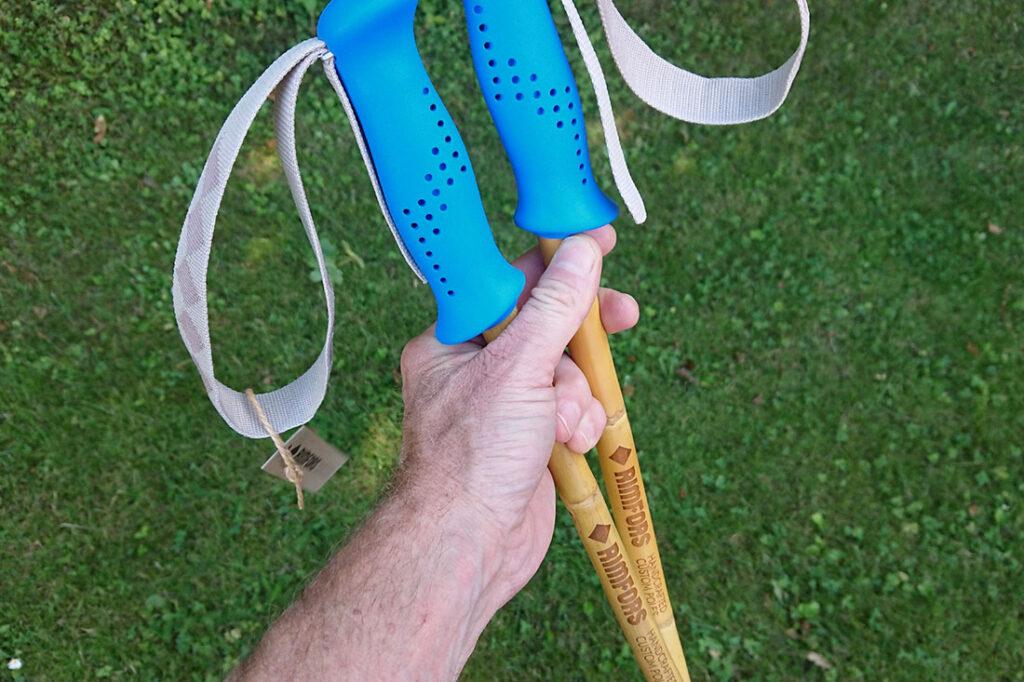 My first Calcutta bamboo ski poles made for a customer.