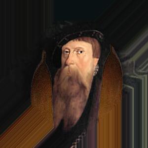 Gustav Vasa med skidor.
