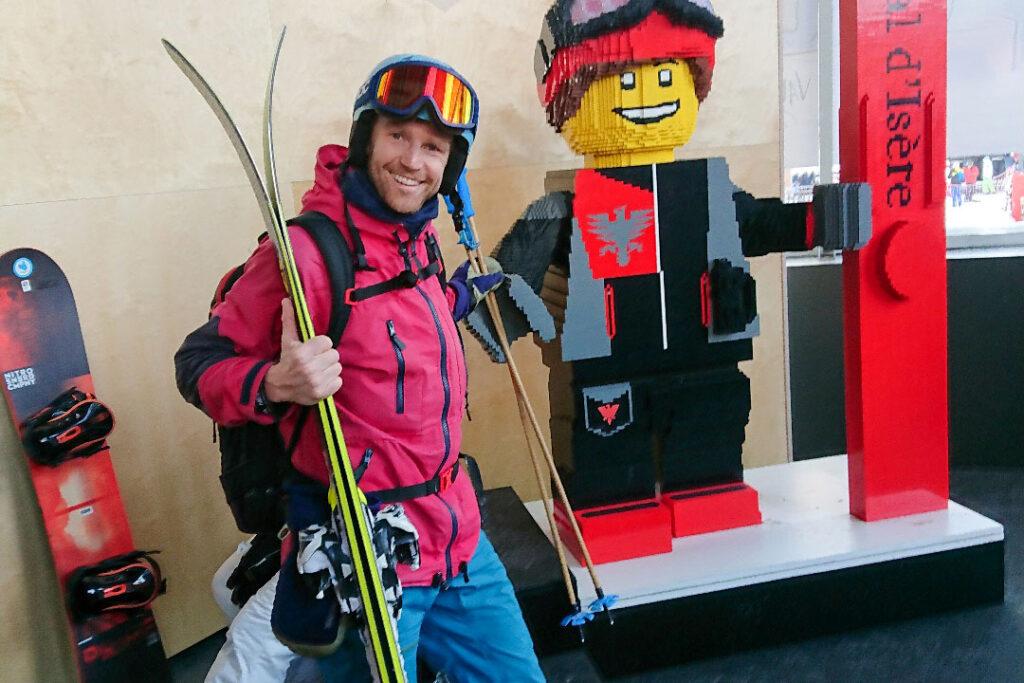 Fabian Rimfors i Val d'Isère och testar vad stavarna går för.